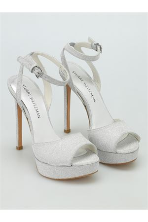 Swagger glitter platform sandals STUART WEITZMAN | 5032241 | SWAGGERPLATA