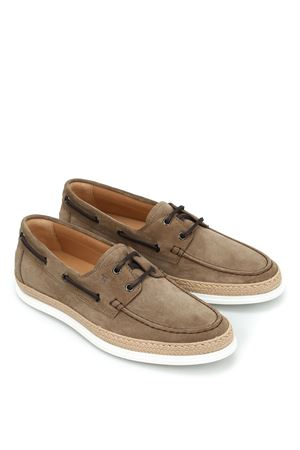 Braided jute suede loafers TOD