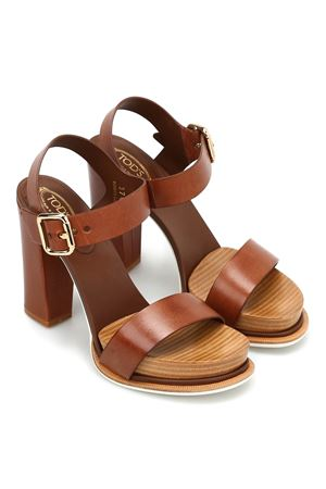 18A leather platform sandals TOD