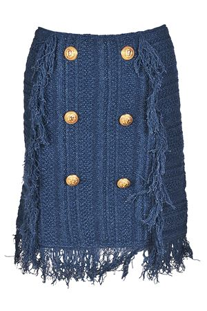 Fringed melange knitted skirt BALMAIN | 15 | 124729M045C3160