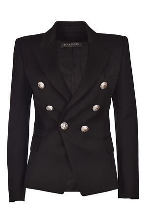 Black twill fitted blazer BALMAIN | 3 | 127212170LC0100