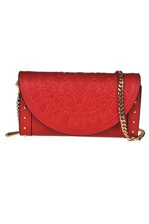 Red calfskin wallet clutch BALMAIN | 10000014 | FM100PGAM132