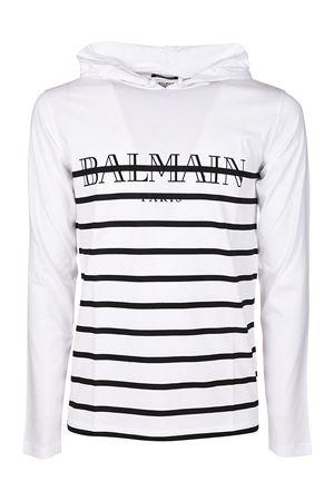 Long sleeve hooded cotton T-shirt BALMAIN   8   H8099I158181