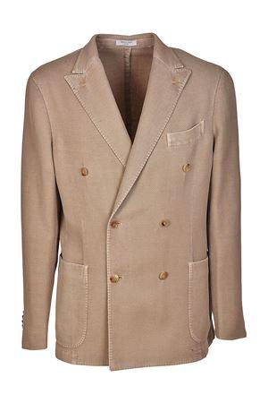Linen blend double-breasted blazer BOGLIOLI | 3 | N4302QBLC413236
