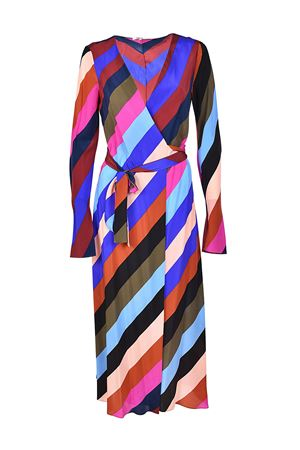 Multicolour striped silk wrap dress DIANE VON FURSTENBERG | 11 | 10171CRSBM