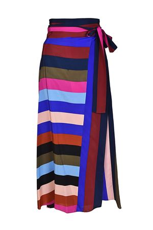 Multicolour striped silk skirt DIANE VON FURSTENBERG | 15 | 11220CRSBM