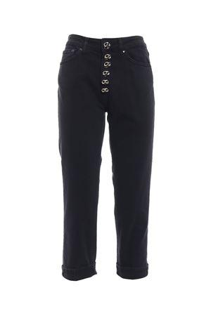 Jeans Koons nero con bottoni gioiello DONDUP | 20000005 | DP268BS009DR25DD999