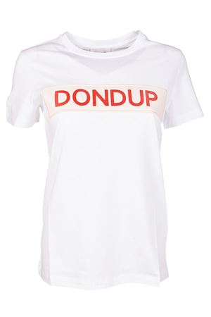 Logo embroidered patch white Tee DONDUP | 8 | S007JF049D121DD000