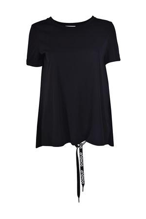 T-shirt nera con nastro dietro DONDUP | 8 | S714JF184DXXXDD999