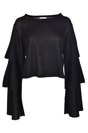 Long flounced sleeve crop T-shirt DONDUP | 40 | S723JF201DXXXDD999