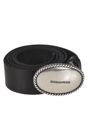 Logo plaque black leather belt DSQUARED2 | 22 | BEW001011300001M1074