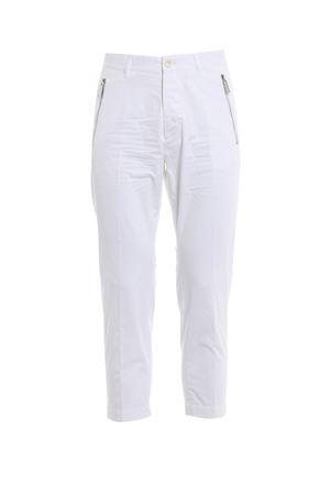 Pantaloni chino bianchi con zip DSQUARED2 | 20000005 | S71KB0072S41796100