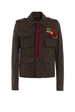 Embellished cotton field jacket DSQUARED2 | 3 | S72AM0640S41794728