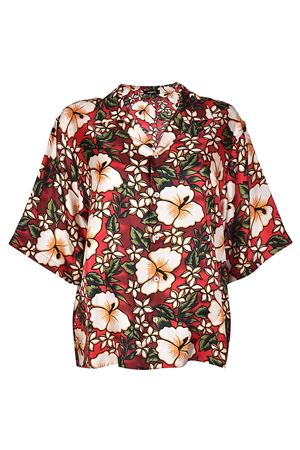 Hibiscus silk jacket style shirt DSQUARED2 | 6 | S72DL0548S48776002S