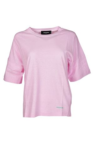 T-shirt rosa in jersey di cotone DSQUARED2 | 8 | S72GD0071S22507242