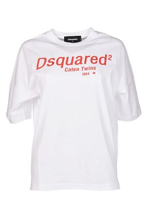 Caten Twins white Tee DSQUARED2 | 8 | S72GD0072S22427100