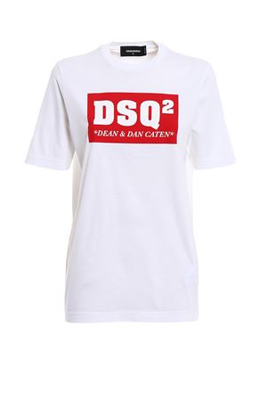 T-shirt bianca DSQ² in cotone DSQUARED2 | 8 | S72GD0080S22427100