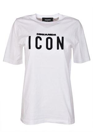 Icon white cotton Tee DSQUARED2 | 8 | S75GC0872S22427100