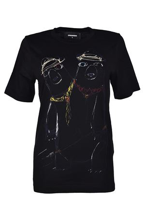 Sketch print black Tee DSQUARED2 | 8 | S75GC0925S22844900