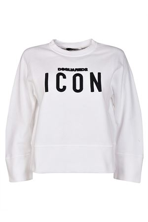 Icon embroidered crop sweatshirt DSQUARED2 | -108764232 | S75GU0119S25030100