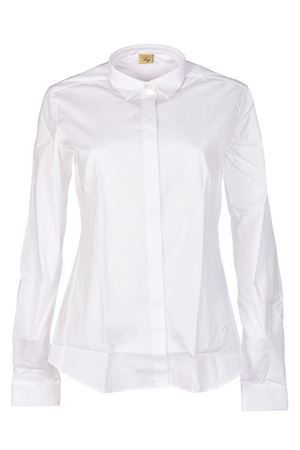 White cotton shirt with darts FAY | 6 | NCWA136564SNDLB001