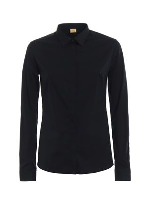 Black cotton shirt with darts FAY | 6 | NCWA136564SNDLB999