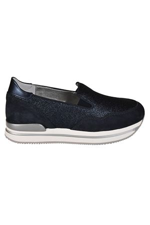 Slip-on H222 in camoscio e glitter HOGAN | 5032246 | HXW2220T671G4D0QA1