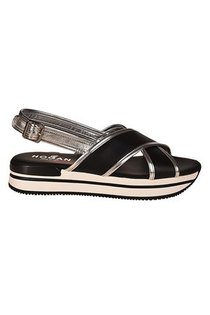 H257 crisscross black sandals HOGAN | 5032241 | HXW2570U450I6W0353