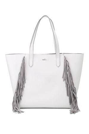 Shopping bag bianca con frange in suede KBW00WA5400IZK077Q HOGAN | 5032266 | KBW00WA5400IZK077Q