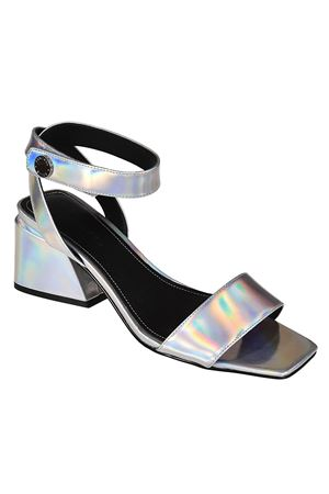 Kyla silver leather sandals KENDALL + KYLIE | 5032241 | KYLA204SILLE