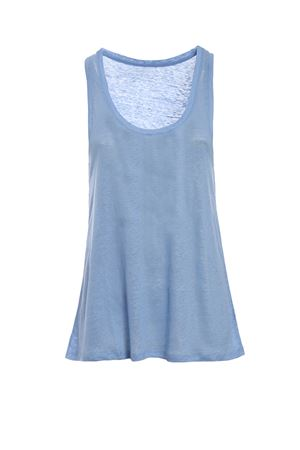 Pure linen tank top MAJESTIC | 46 | 0509375