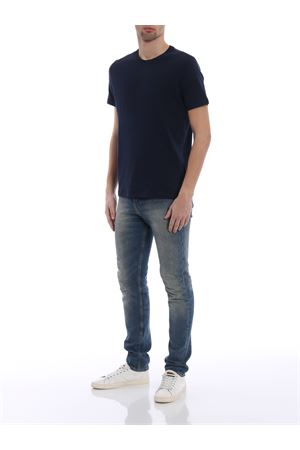 T-shirt blu in cotone deluxe MAJESTIC | 8 | 09001003