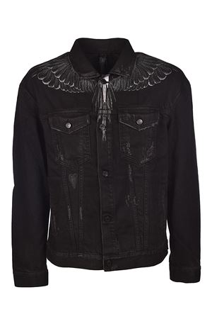 Black Wing cotton denim jacket MARCELO BURLON | 3 | CMYE002S187571676810