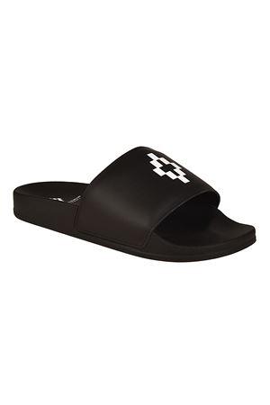 Python Logo leather sandals MARCELO BURLON | 5032258 | CWIA048R187250961000