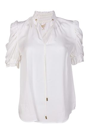 Puff sleeved silk blouse MICHAEL DI MICHAEL KORS | 10000004 | MH74LCYVY0100