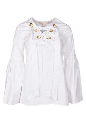 Blusa bianca con maniche a campana MICHAEL DI MICHAEL KORS | 10000004 | MH74LDD56J100
