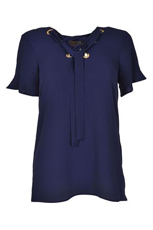 Blue crepe blouse with laces MICHAEL DI MICHAEL KORS | 10000004 | MH74LGM4YP456