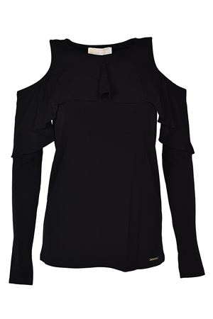 Cut-out flounced jersey blouse MICHAEL DI MICHAEL KORS | 7 | MH75LNM7AW001