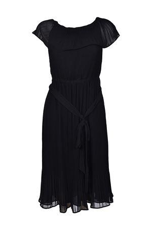 Black pleated chiffon dress MICHAEL KORS | 11 | MH78XGG4ZB001