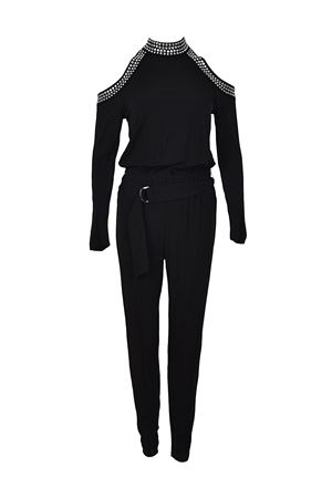 Embellished belted jersey jumpsuit MICHAEL KORS | 19 | MH78XGP7AW001