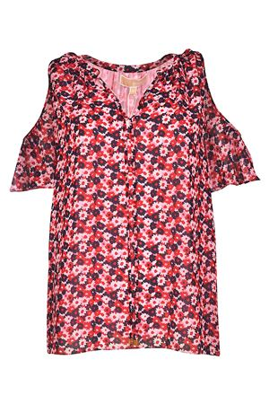 Floral print crêpe blouse MICHAEL KORS | 10000004 | MS84LEJ8MB959
