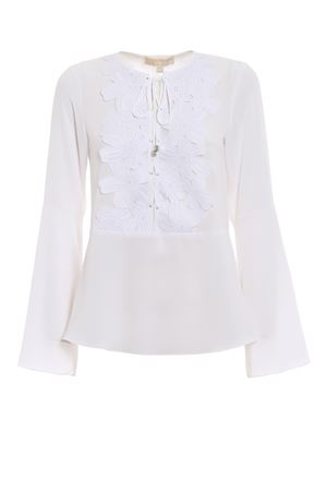 Macramé front crepe blouse MICHAEL DI MICHAEL KORS | 10000004 | MS84LF34YP100
