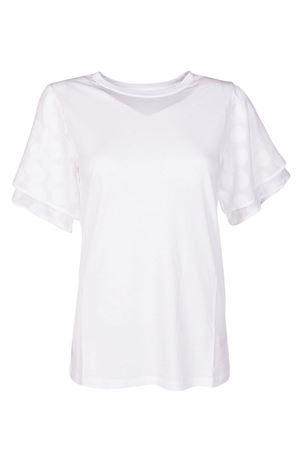 Polka dot sleeved white T-shirt MICHAEL KORS | 8 | MS85LSH6TF100