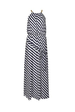 Chain detailed striped long dress MICHAEL DI MICHAEL KORS | 11 | MS88Y448MG428