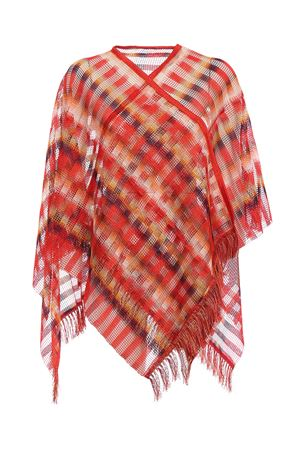 Chequered viscose mesh cape MISSONI | 52 | MA4YVID65310002