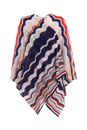 Colourful chevron jersey large cape MISSONI | 52 | MA80CMD64320002