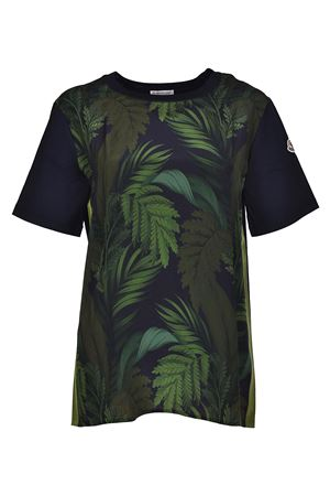 Silk and cotton patterned T-shirt MONCLER | 8 | 8079800549PL865