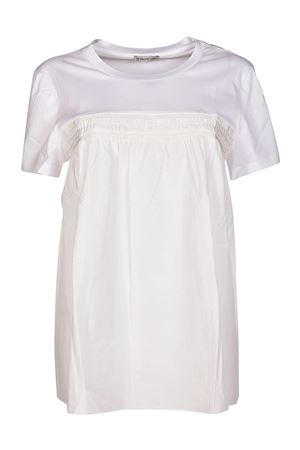 Cotton pleated T-shirt MONCLER | 8 | 80805008390X001