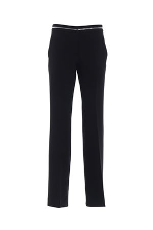 Black cady flared trousers MOSCHINO | 20000005 | 03210424A0555