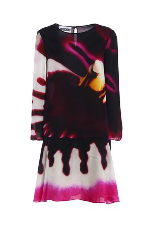 Printed organdie flared dress MOSCHINO | 11 | 04520458J1888